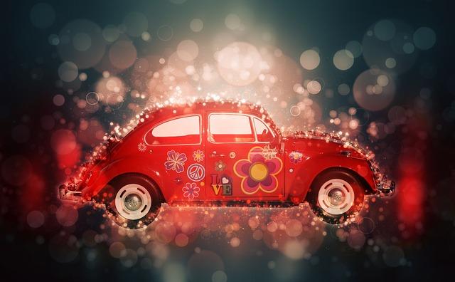 pomalovaný Volkswagen Brouk