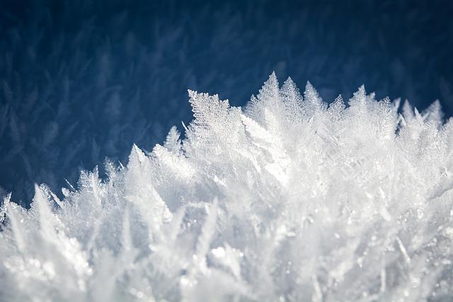 zimní krystaly