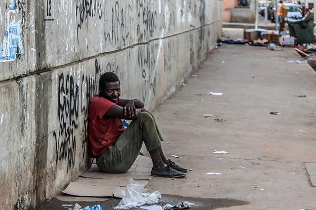 černý bezdomovec