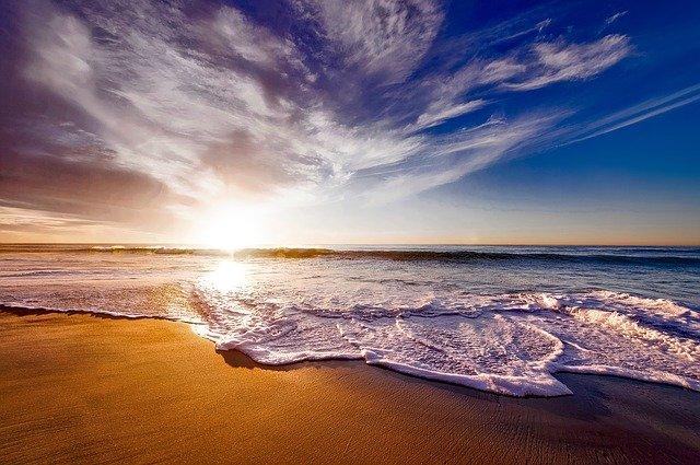 kalifornie a západ slunce