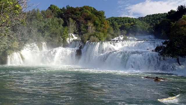 vodopády v Chorvatsku